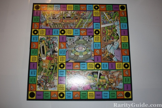 TMNT Teenage Mutant Ninja Turtles Pizza Power Game board 1987