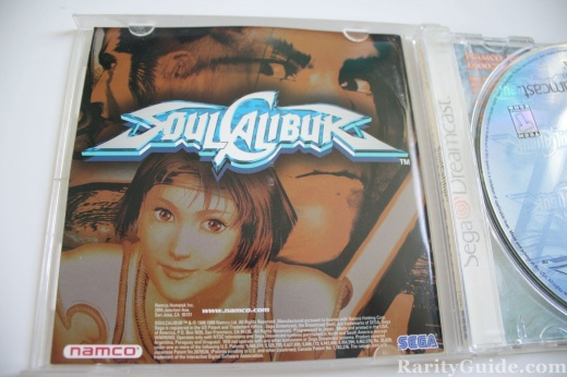 Sega Dreamcast Video Game Console Soul Calibur Namco Booklet
