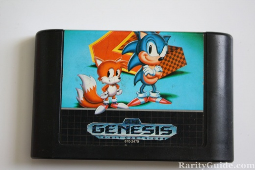 Sega Genesis Video Game Cartridge Sonic the Hedgehog 2