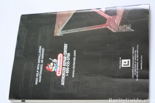Nintendo 64 N64 Star Wars Rogue Squadron Back of Manual