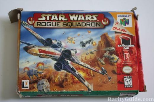Nintendo 64 N64 Star Wars Rogue Squadron Box