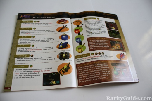 Nintendo 64 N64 Legend of Zelda Majoras Mask Manual a Peek Inside