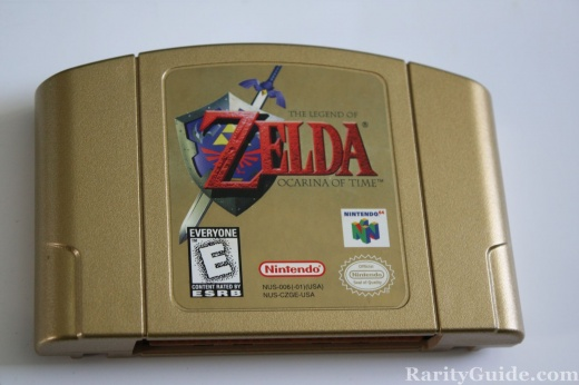 Nintendo 64 N64 Legend of Zelda Ocarina of Time Cartridge Gold