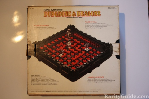 Dungeons and Dragons board game box (bottom)
